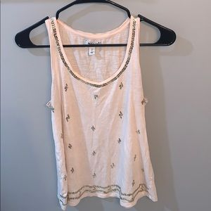 Light Pink Top with Gold Sequins